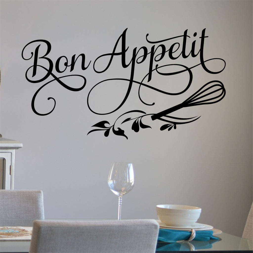 Bon Appetit Kitchen Decal | Vinyl Lettering | Wall Quotes