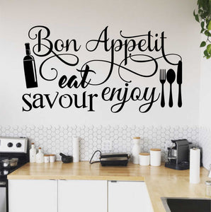 Wall Decal Bon Appetit Word Collage