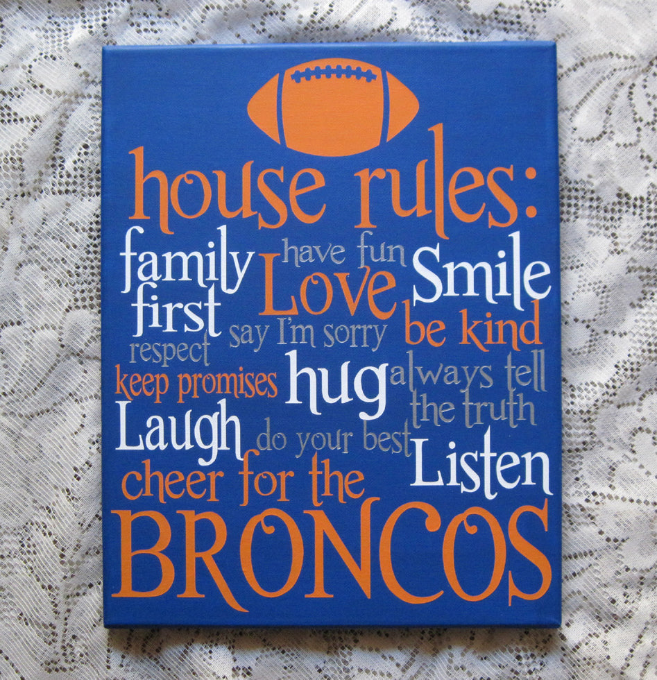 Football House Rules canvas