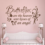 Butterflies are Kisses Quote | Nursery Decal | Vinyl Wall Lettering