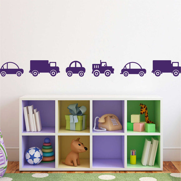 Wall Decal Car and Truck Border
