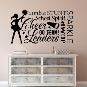 Wall Decal Cheerleader Word Collage