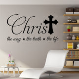 Christian Wall Decal Christ the Way the Life Religious Vinyl Lettering