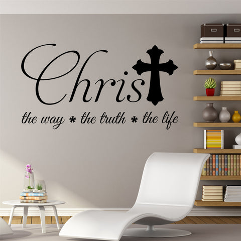 Christ The Life | Religious Decals | Vinyl Wall Lettering