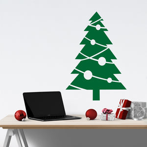 Wall Decal Christmas Tree with Ornaments