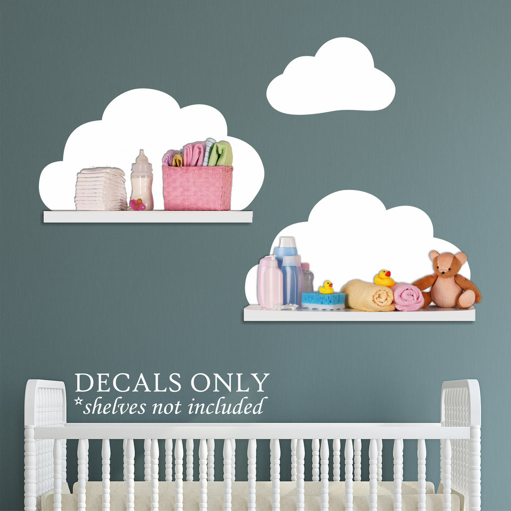Cloud Shelf Decals | Nursery Wall Decals | Vinyl Wall Art