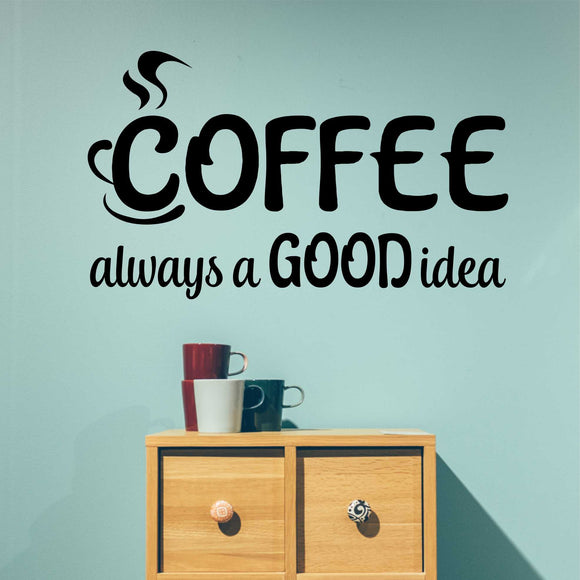 coffee good idea wall decal