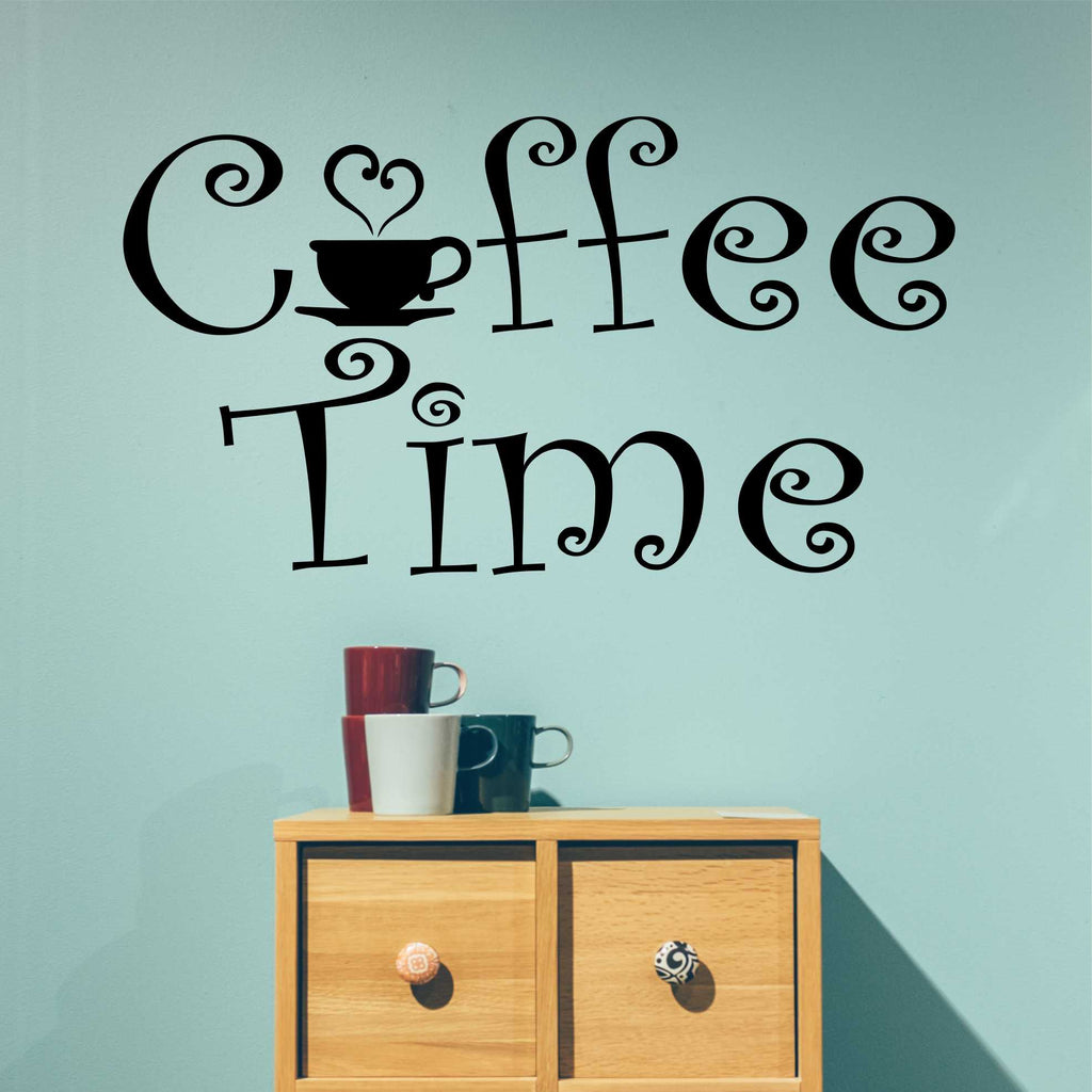 Coffee Time | Vinyl Wall Decal | Wall Quotes | Kitchen Lettering