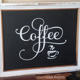 Coffee Wall Decal Fancy Coffee Word Kitchen Decor