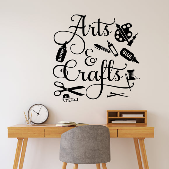 arts and crafts wall decal