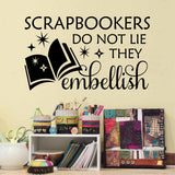 scrapbookers craft room wall decal