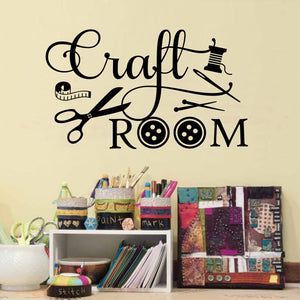 craft room wall decal