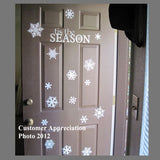 Holiday Wall Decal Snowflake Assortment Christmas Decor