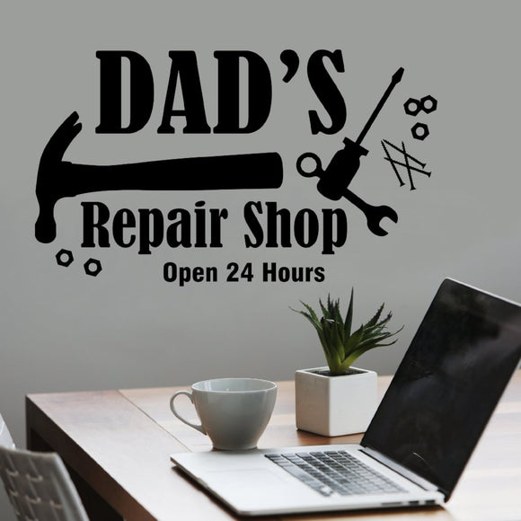 Wall Decal Dad's Repair Shop