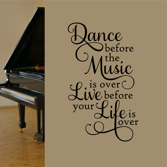 Wall Decal Dance before Music over
