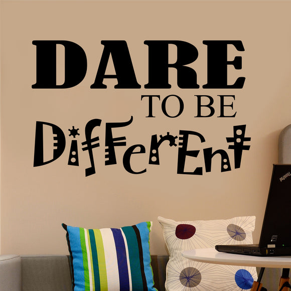 Wall Decal Dare to be Different
