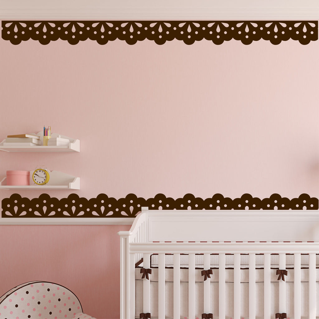 Decorative Vinyl Border | Lace Design | Nursery Wall Decals