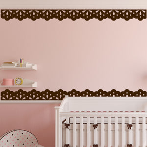 Decorative Wall Decal Lace Accent Border