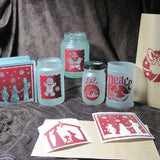 Assorted Christmas Vinyl Decals | DIY Luminaries or Glass Blocks