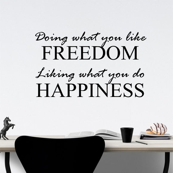 freedom happiness wall decal
