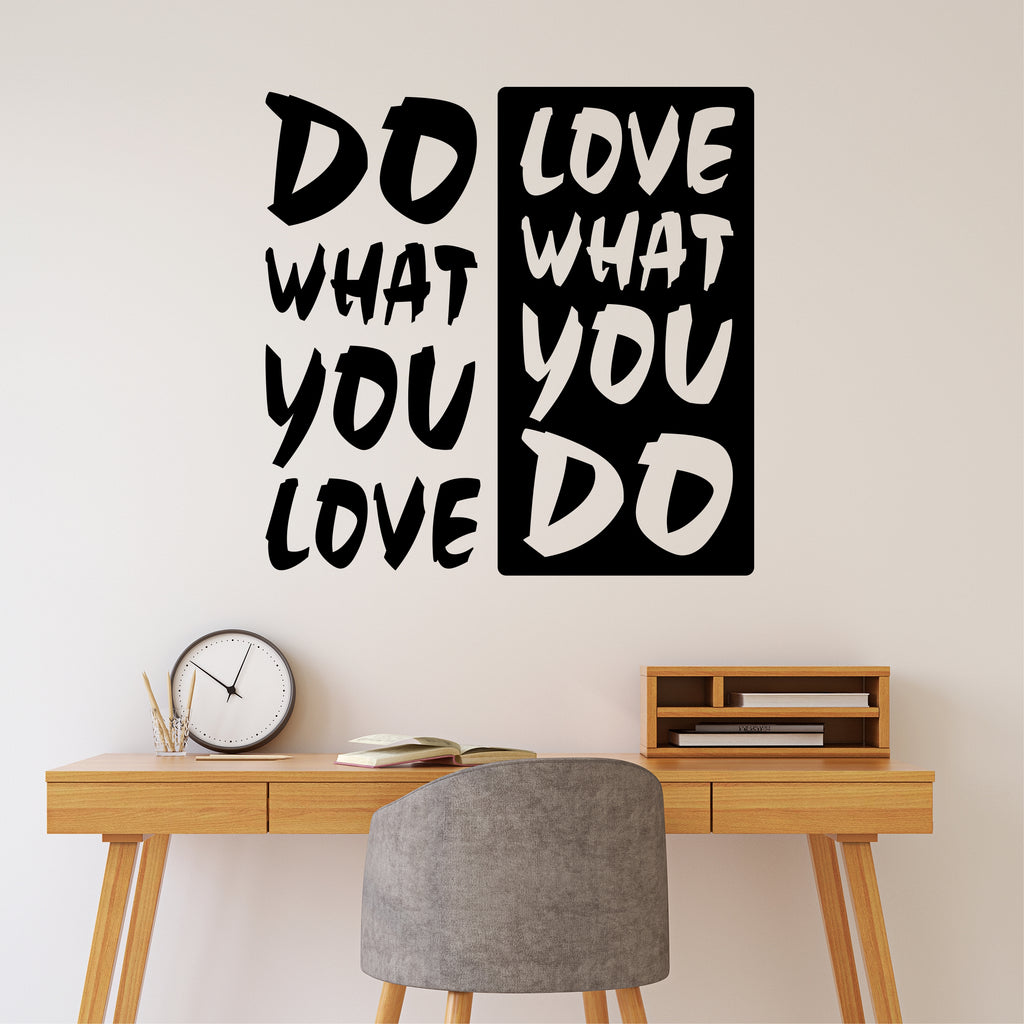 Do what you love quote vinyl wall lettering motivational decal amipublicfo Choice Image