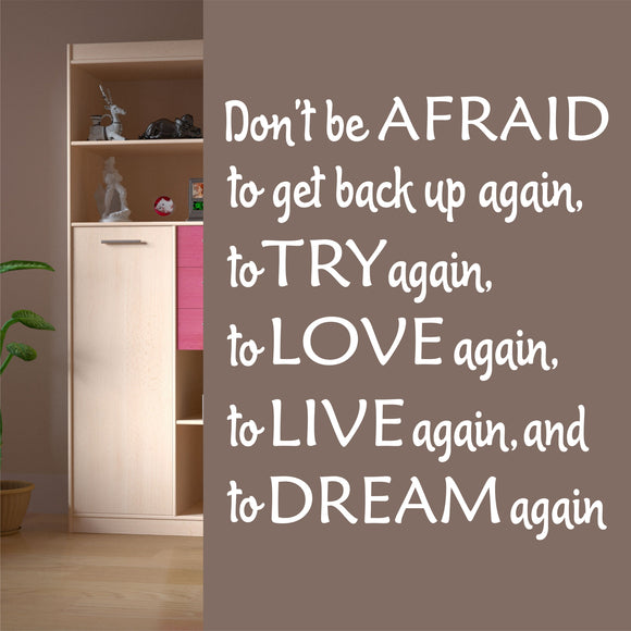 Wall Decal Don't Be Afraid