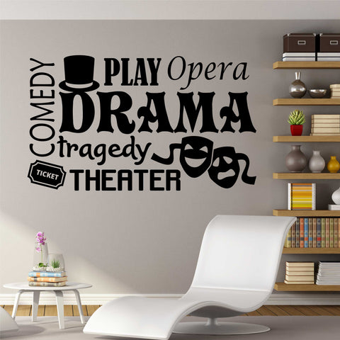 drama class word collage decal