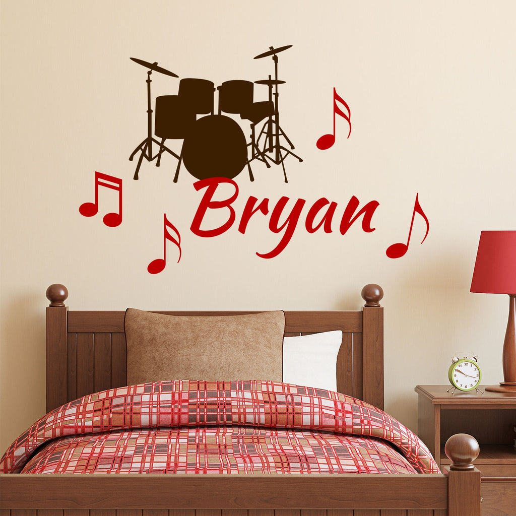 musical name drums wall decal