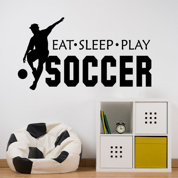 play soccer wall decal