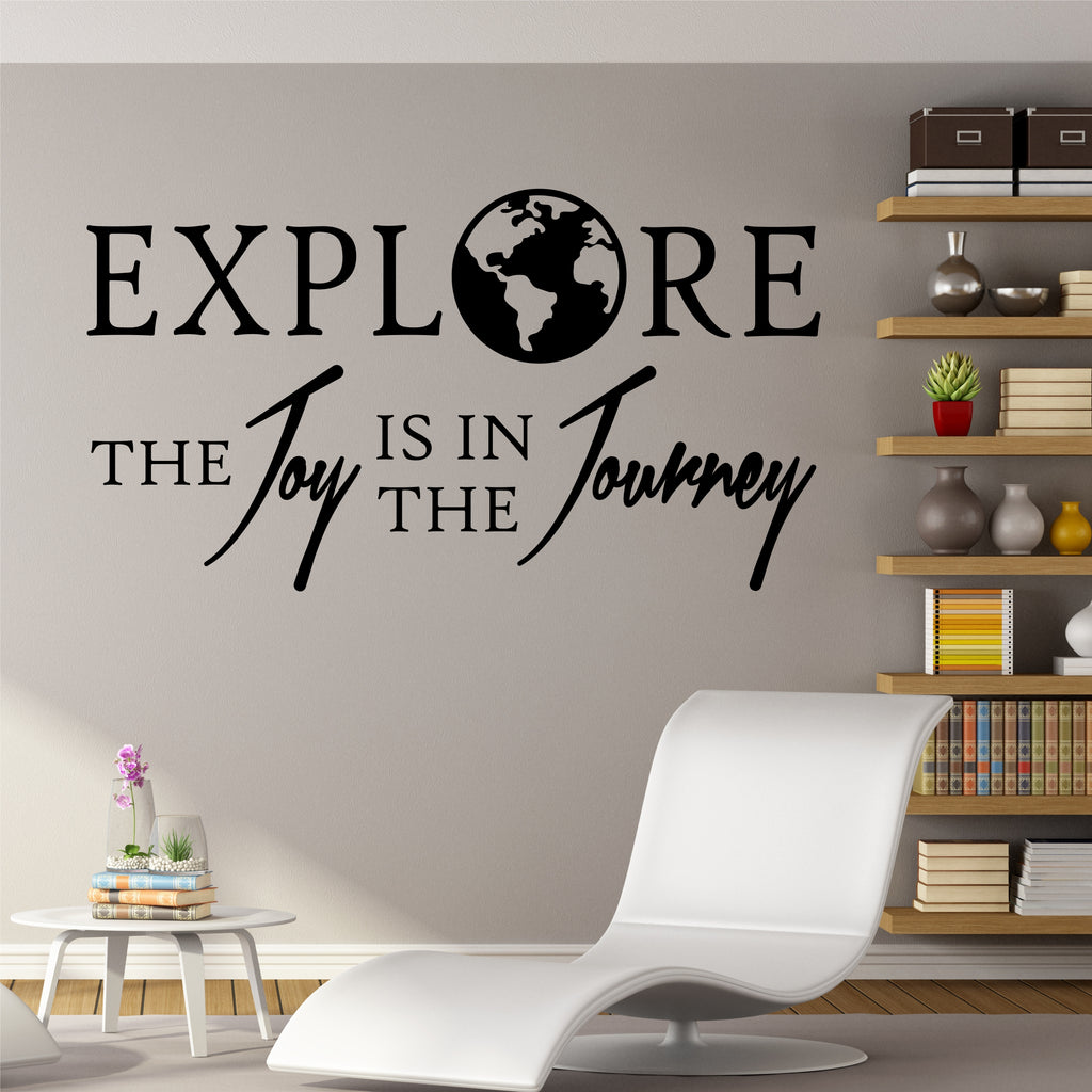 Explore Joy Journey | Travel Adventure Decal | Vinyl Wall Lettering