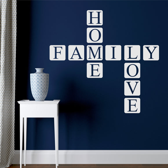 Wall Decal Home Family Love Tiles