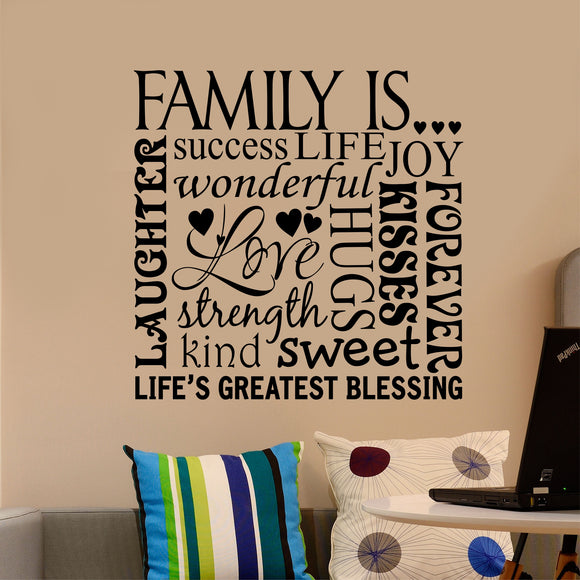 Wall Decal Family Is Word Collage