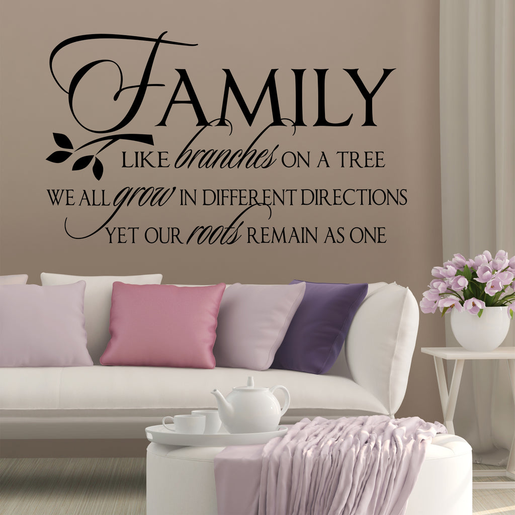 Family Like Branches Quote | Vinyl Wall Lettering | Vinyl Wall Decals