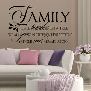 Wall Decal Family Like Branches on a Tree