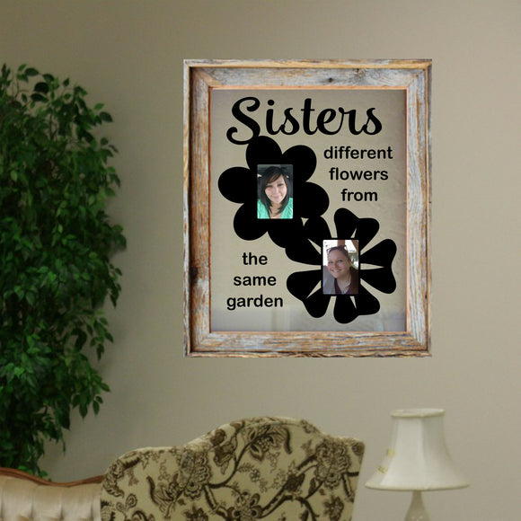 Vinyl Decal Sisters Different Flowers