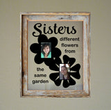 Floating Frame Vinyl Decal Sisters Different Flowers DIY Photo Collage