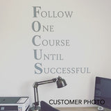 Motivational Office Wall Decal Focus Workplace Definition