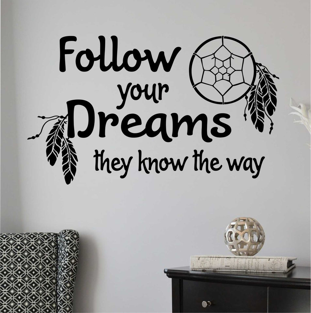 Follow Your Dreams.. Subway Art Wall Decal Vinyl Stickers ...