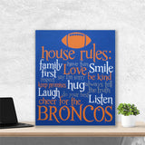 house rules football canvas painting