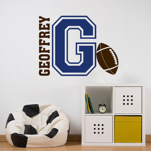 Wall Decal Football Varsity Letter