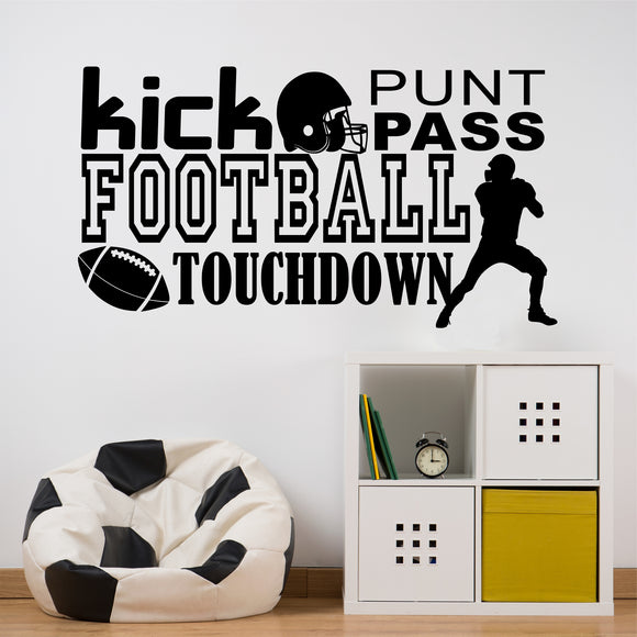 Wall Decal Football Word Collage
