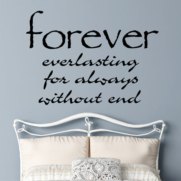 Farmhouse Bedroom Decal Definition of Forever Romantic Vinyl Lettering