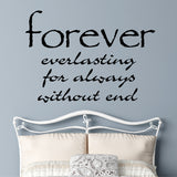 Definition of Forever | Romantic Decal | Vinyl Wall Lettering
