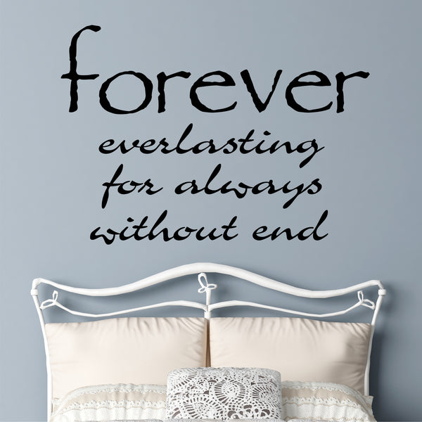 Definition Of Forever Romantic Decal Vinyl Wall Lettering