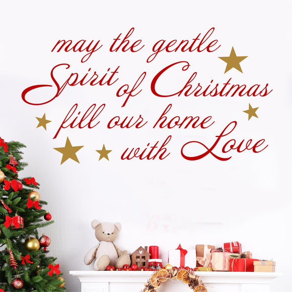 Wall Decal Spirit of Christmas