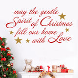 Spirit of Christmas | Holiday Vinyl Decal | Christmas Wall Lettering