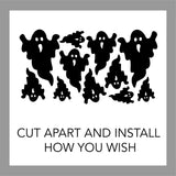 Holiday Wall Decal Assorted Sizes Halloween Ghosts Stickers
