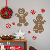 Christmas Wall Decal Set of 6 Peppermint Candies Holiday Decor