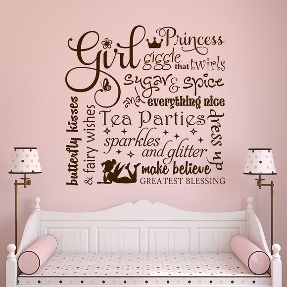 Wall Decal Definitions of a Girl