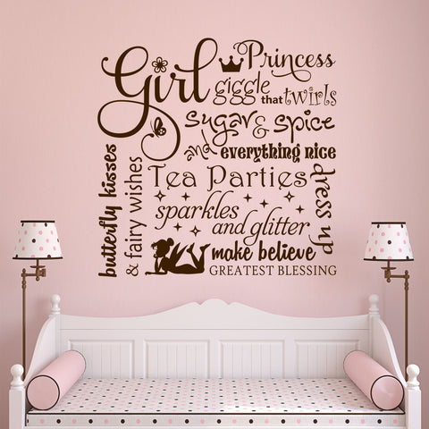 Definitions of Girl Nursery Decal | Vinyl Wall Lettering | Wall Quotes